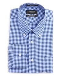 Traditional fit non iron gingham dress shirt medium 8576839