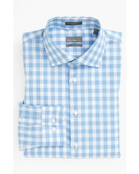 Light Blue Gingham Long Sleeve Shirt