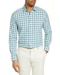 Peter Millar Brighton Grand Gingham Cotton Silk Sport Shirt