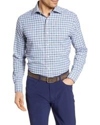 Peter Millar Craftwoven Regular Fit Check Button Up Shirt