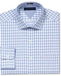 Tommy Hilfiger Dress Shirt Slim Fit Gingham Long Sleeved Shirt