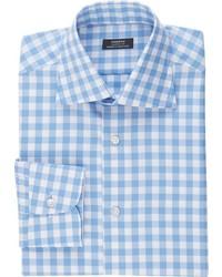 Fairfax Gingham End On End Shirt Blue Size 15