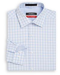 Saks Fifth Avenue Trim Fit Gingham Cotton Dress Shirt