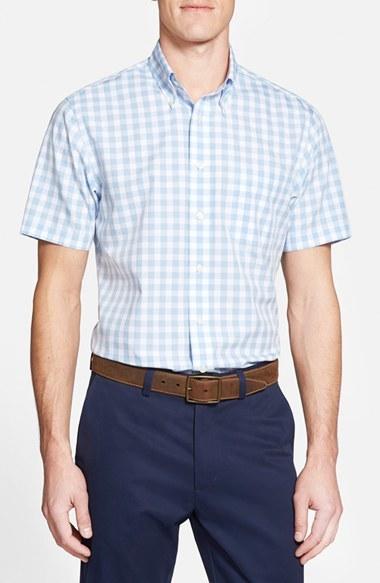 Brooks Brothers Regent Fit Short Sleeve Gingham Sport ...