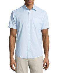 Original Penguin Gingham Check Sport Shirt Crystal Blue