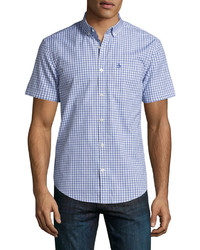 Original Penguin Gingham Short Sleeve Shirt Blue