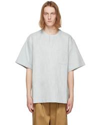King & Tuckfield Blue Denim Woven T Shirt