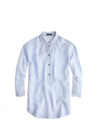 J.Crew Drapey Oxford Crepe Popover Shirt