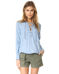 Lace up henley medium 3712610