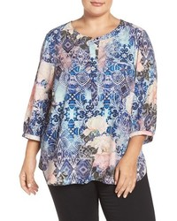 Plus size henley top medium 1195889