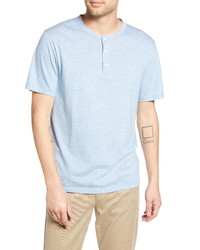 Vince Stripe Cotton Blend Henley T Shirt
