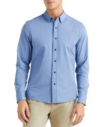 Rhone Commuter Herringbone Button Up Dress Shirt