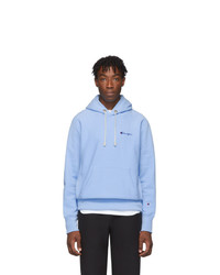 Champion Reverse Weave Blue Small Script Hoodie