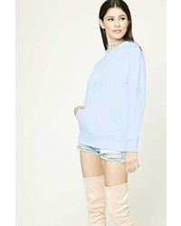 Forever 21 Distressed French Terry Hoodie