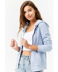 Forever 21 French Terry Zip Front Hoodie