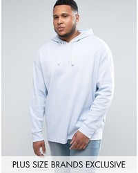 Puma Plus Waffle Oversized Hoodie In Blue To Asos
