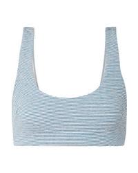 Mara Hoffman Lira Striped Jacquard Knit Bikini Top