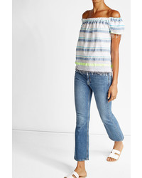 Lemlem Striped Cotton Bardot Top