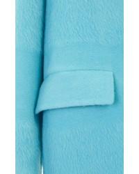 Barneys New York Textured Stripe Oversized Coat Blue