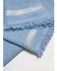 Stripe pattern cotton scarf medium 5024563