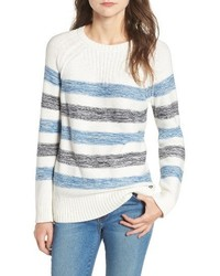 Dock stripe cotton sweater medium 3655754