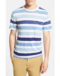 2a246dedb5 How to Wear a Light Blue Horizontal Striped Crew-neck T-shirt For ...