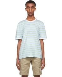 Thom Browne Blue Bar Stripe Ringer T Shirt