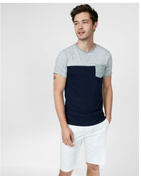 Express Stripe Color Blocked Crew Neck Tee