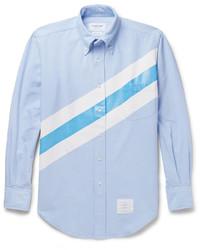 Light Blue Horizontal Striped Dress Shirt