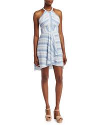 Amanda Uprichard Vineyard Striped Cotton Mini Dress Multi