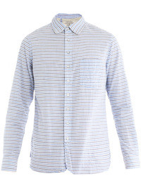 Light Blue Horizontal Striped Long Sleeve Shirt