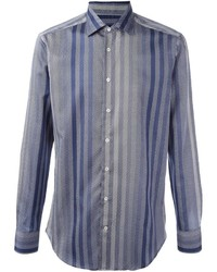 Etro striped button down shirt medium 819976