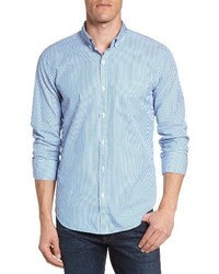 Slim fit summerweight stripe sport shirt medium 3721599