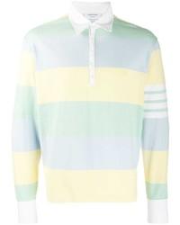 Thom Browne 4 Bar Rugby Stripe Polo Shirt