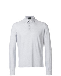 Zanone Striped Longsleeved Polo Shirt