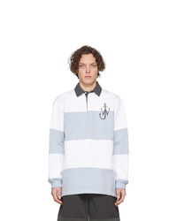 JW Anderson White And Blue Rugby Polo