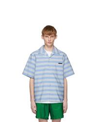 Prada Blue Striped Bahama Shirt