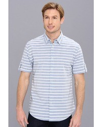 Jeans ss horizontal stripe slim fit shirt city press medium 26403