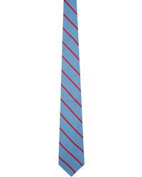 Etro Blue Pink Stripe Tie