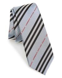Burberry Manston Logo Stripe Silk Tie