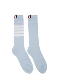Thom Browne Blue 4 Bar Mid Calf Socks