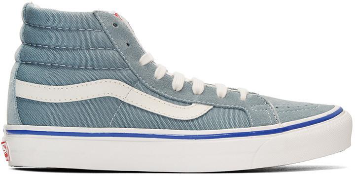 baby blue vans sk8 hi