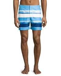 Orlebar Brown Bulldog Mcgovern Striped Swim Trunks Blue
