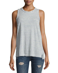 Current/Elliott The Muscle Striped Tee Blue