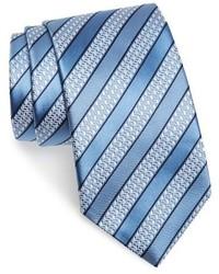 Light Blue Horizontal Striped Tie