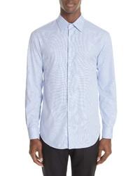 Emporio Armani Trim Fit Houndstooth Dress Shirt