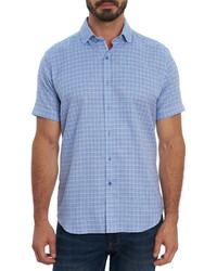 Robert Graham Candido Houndstooth Short Sleeve Button Up Shirt
