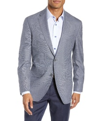 David Donahue Arnold Classic Fit Houndstooth Wool Sport Coat