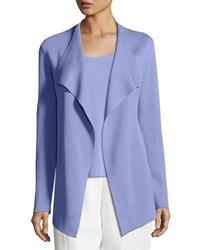 Eileen Fisher Open Interlock Cascade Jacket Plume