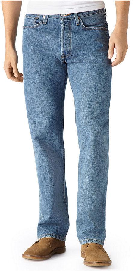 3b1b256c9bc Levi's 501 Original Fit Medium Stonewash Jeans, $59 | Macy's ...